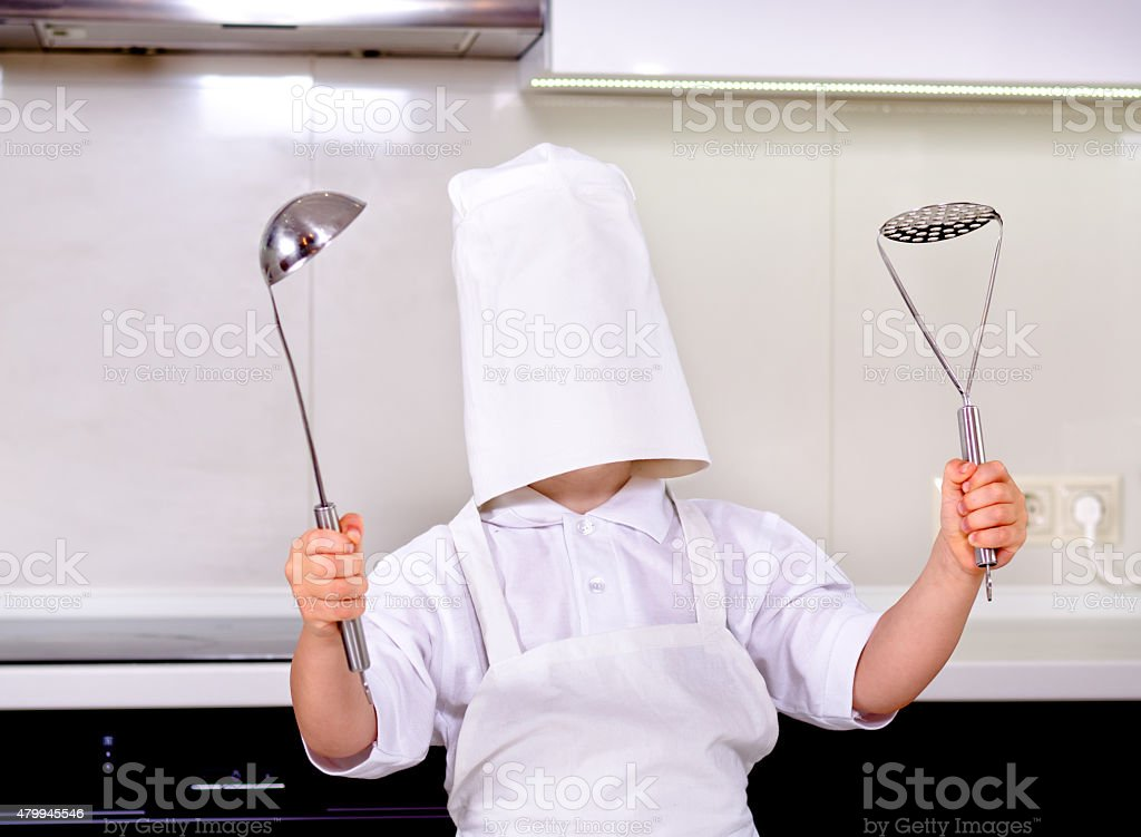 Oops - my chefs hat is too big stock photo