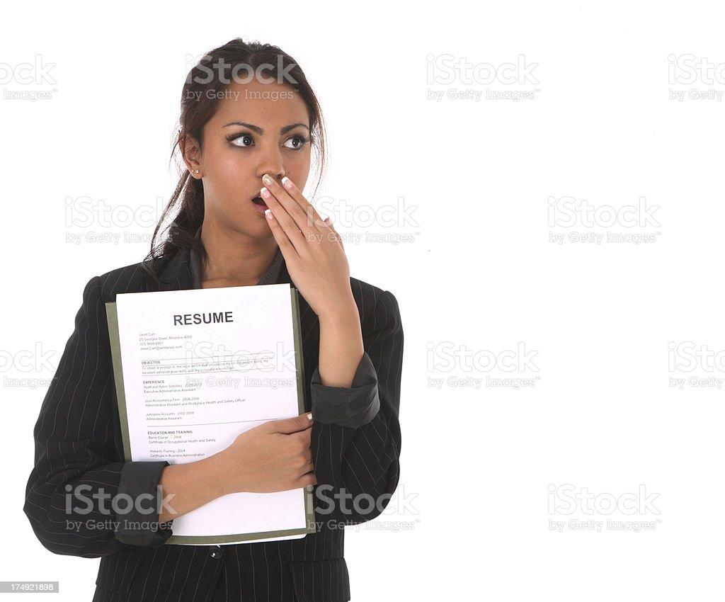 Oops!  Resume stock photo