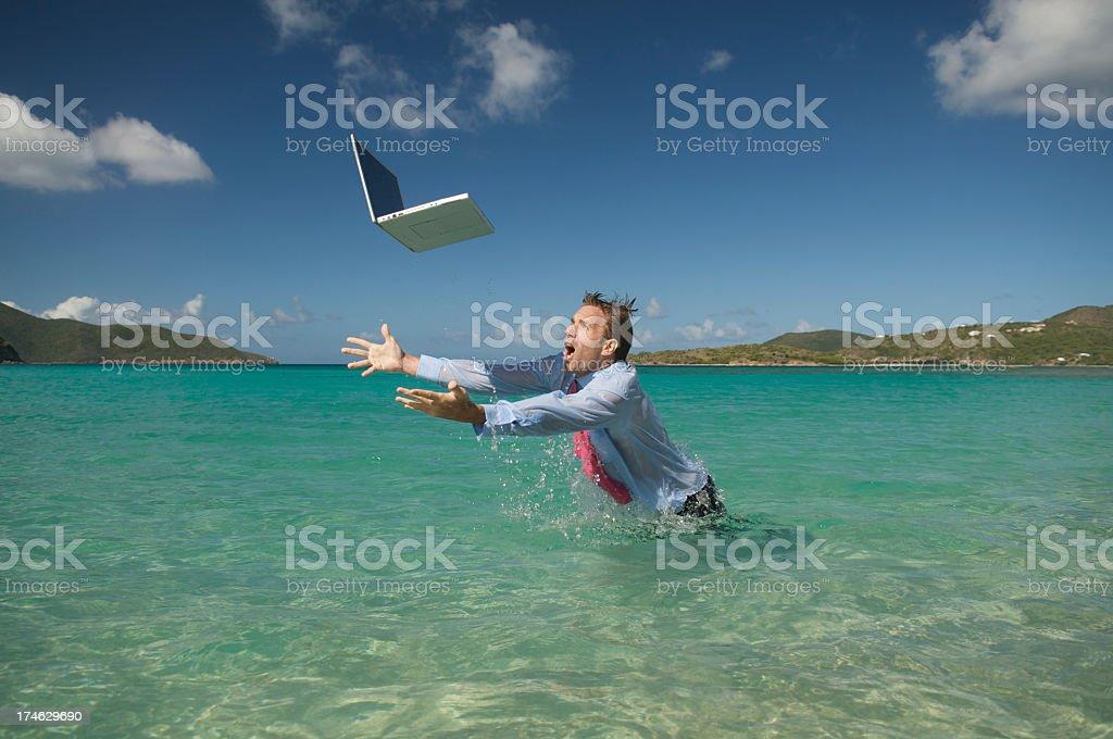 Oops Splash royalty-free stock photo