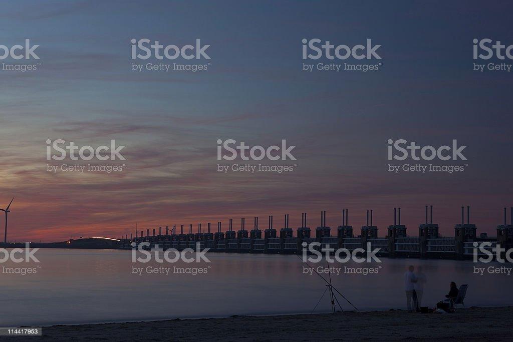 Oosterschelde surge barrier royalty-free stock photo