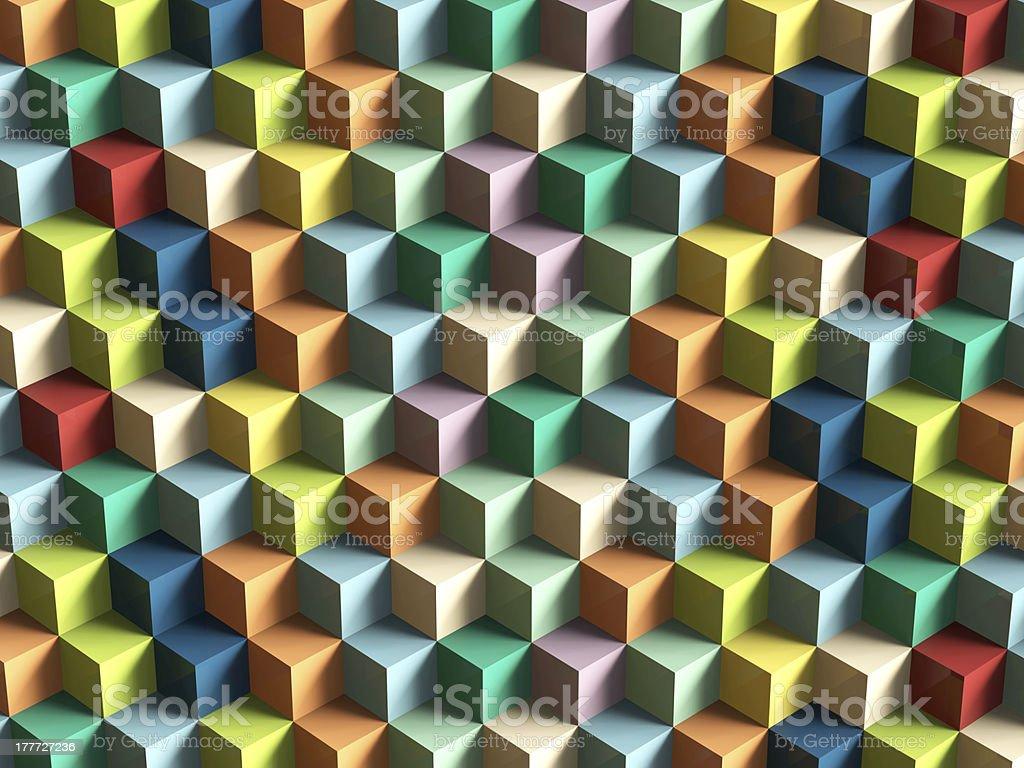 Op Art Cubes Pattern stock photo