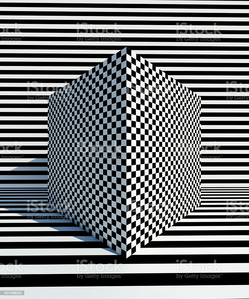 Op Art pattern Back and white backgrounds stock photo