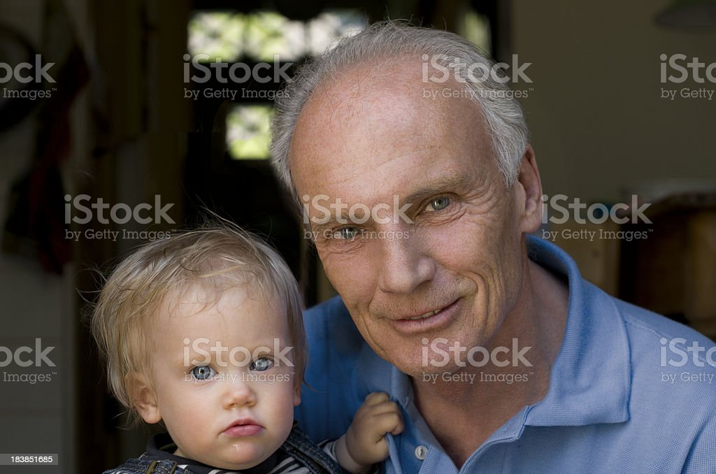 Opa and Baby royalty-free stock photo