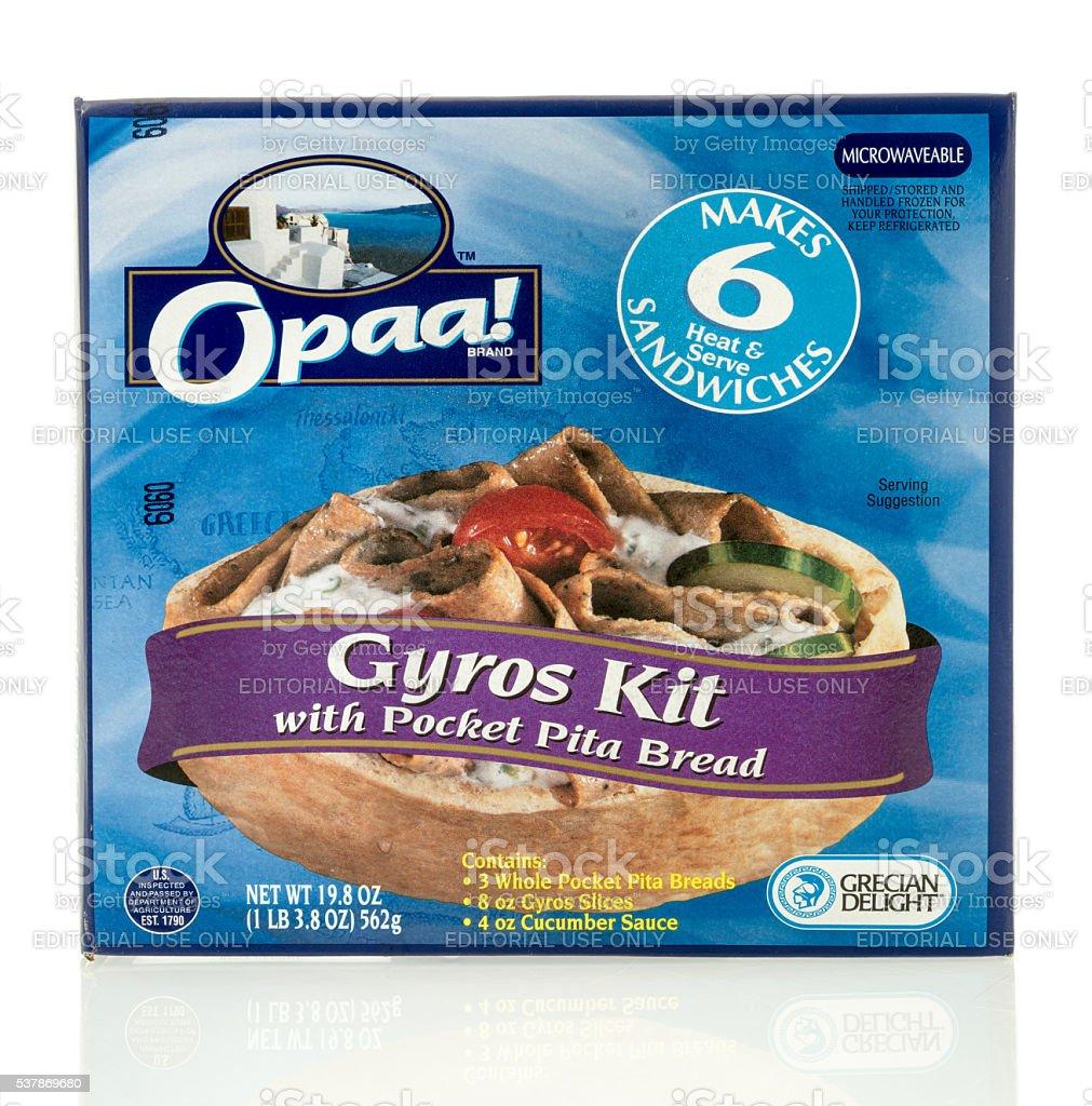 Opaa Gyro Kit stock photo