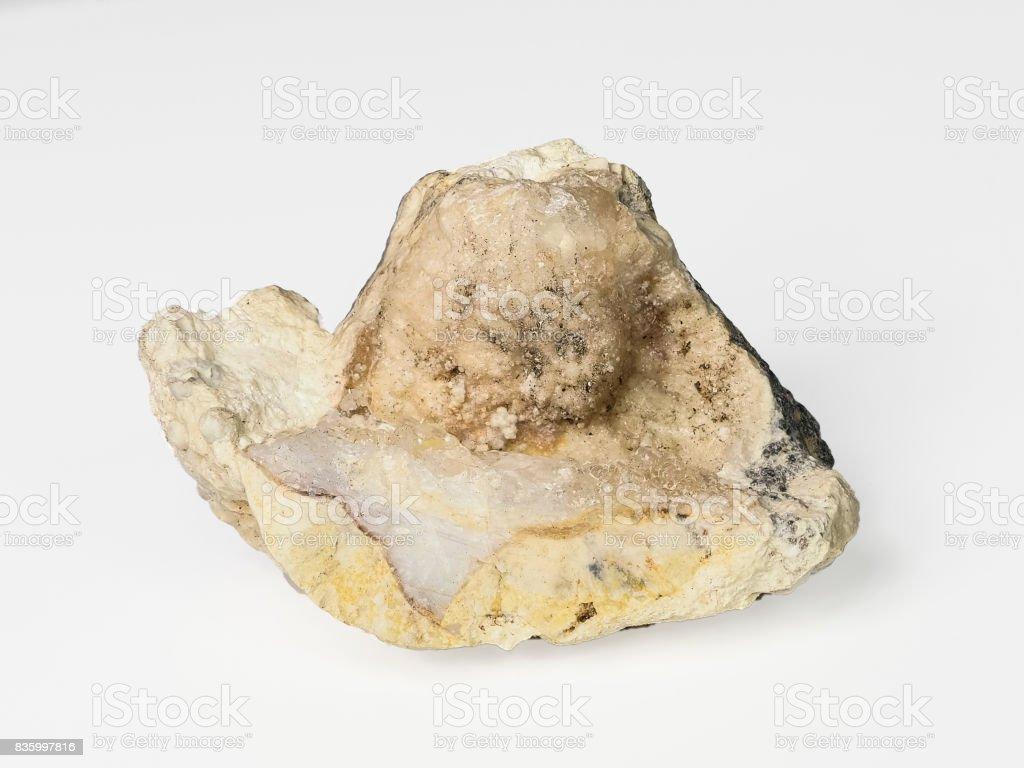 Opal Gemstone Rough Raw Rock Mined in USA stock photo