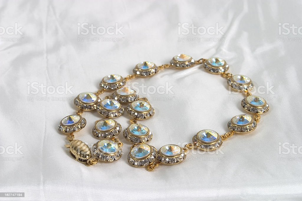 opal necklace stock photo
