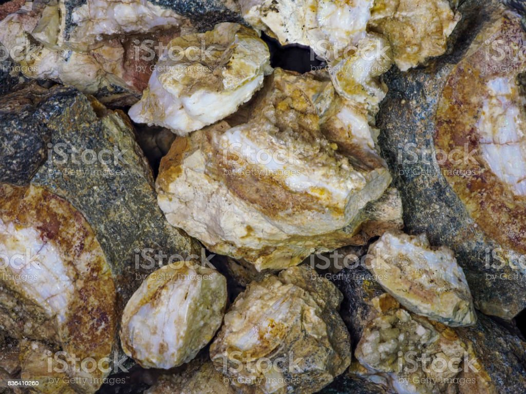 Opal Rough Stack of Rocks Gemstone from Mine in USA stock photo