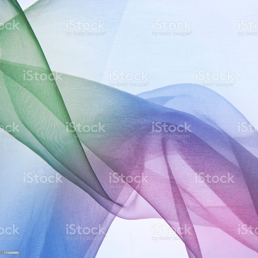 Opaque blue, pink and green abstract background stock photo