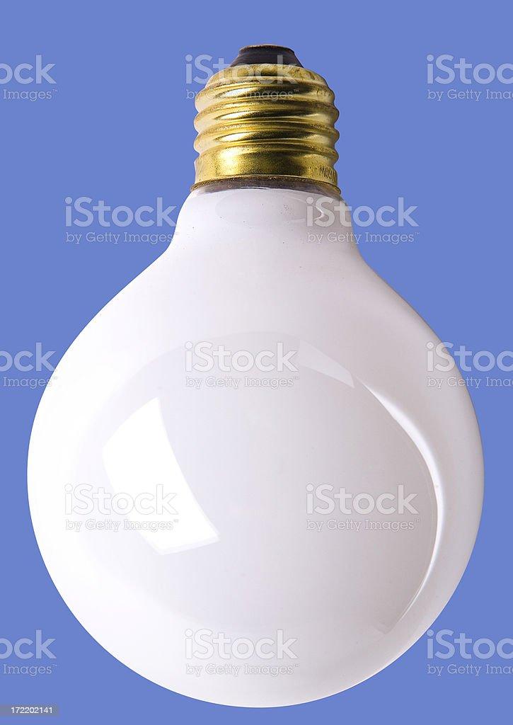 Opaque white lightbulb royalty-free stock photo