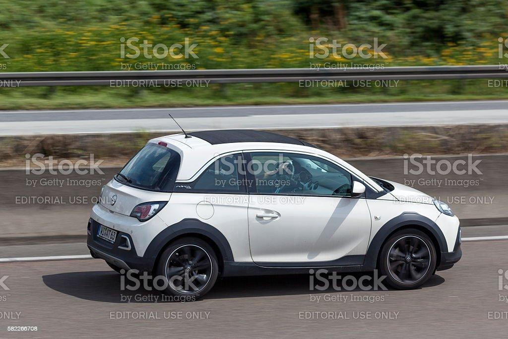 Opel Adam Rocks on the road stock photo