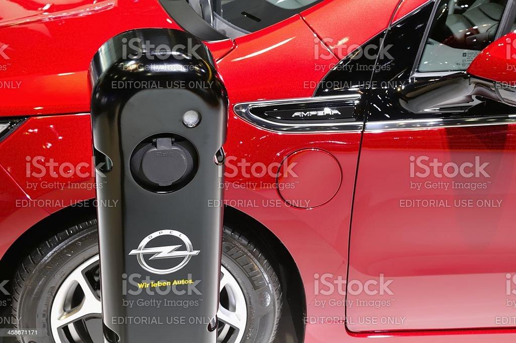 Opel Ampera detail stock photo