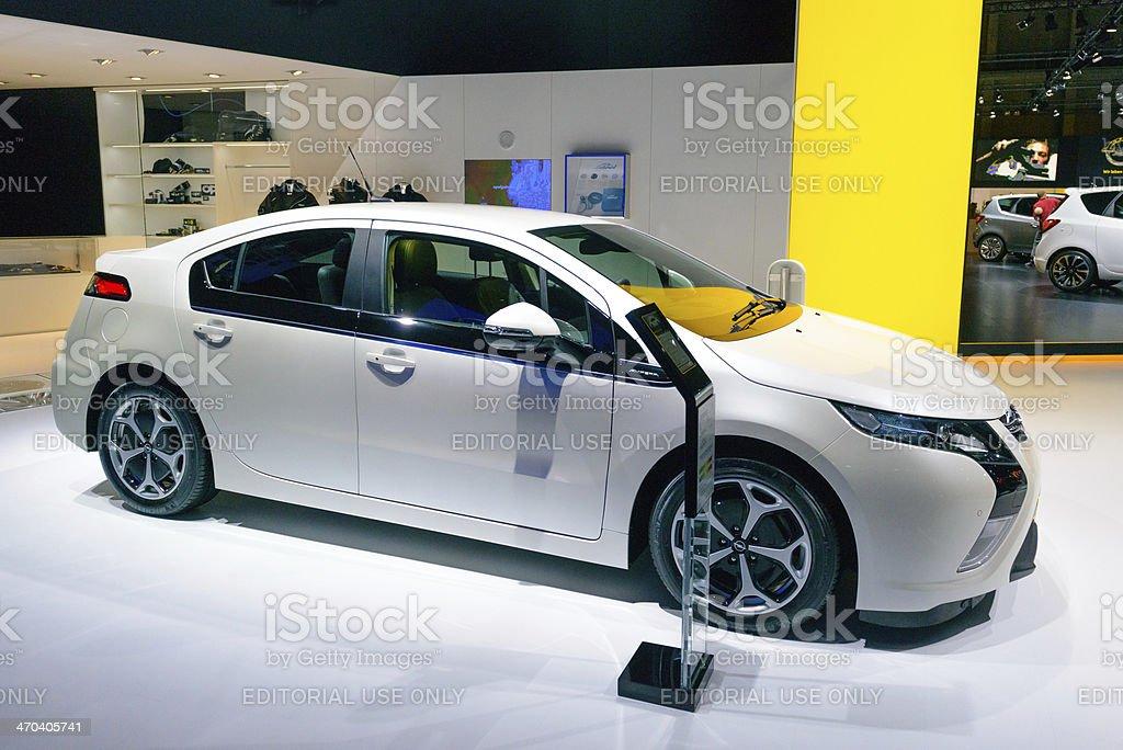 Opel Ampera hybrid stock photo