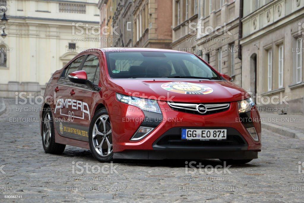 Opel Ampera on the street stock photo