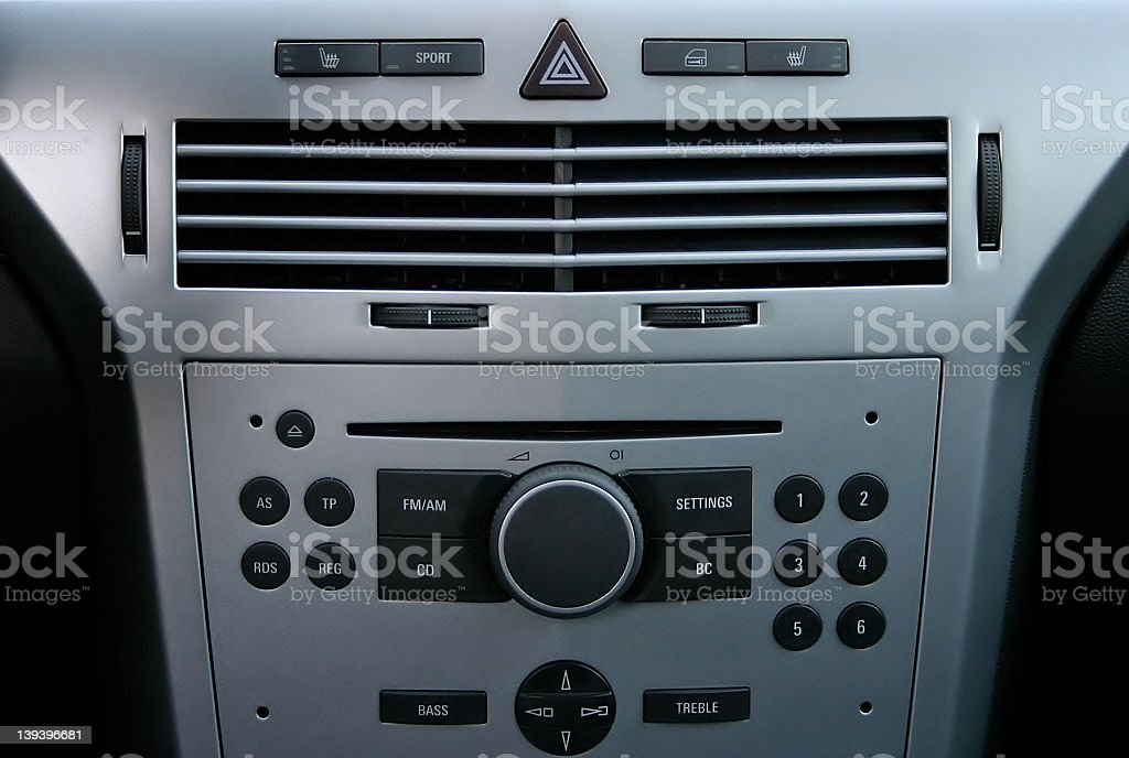 opel astra console stock photo
