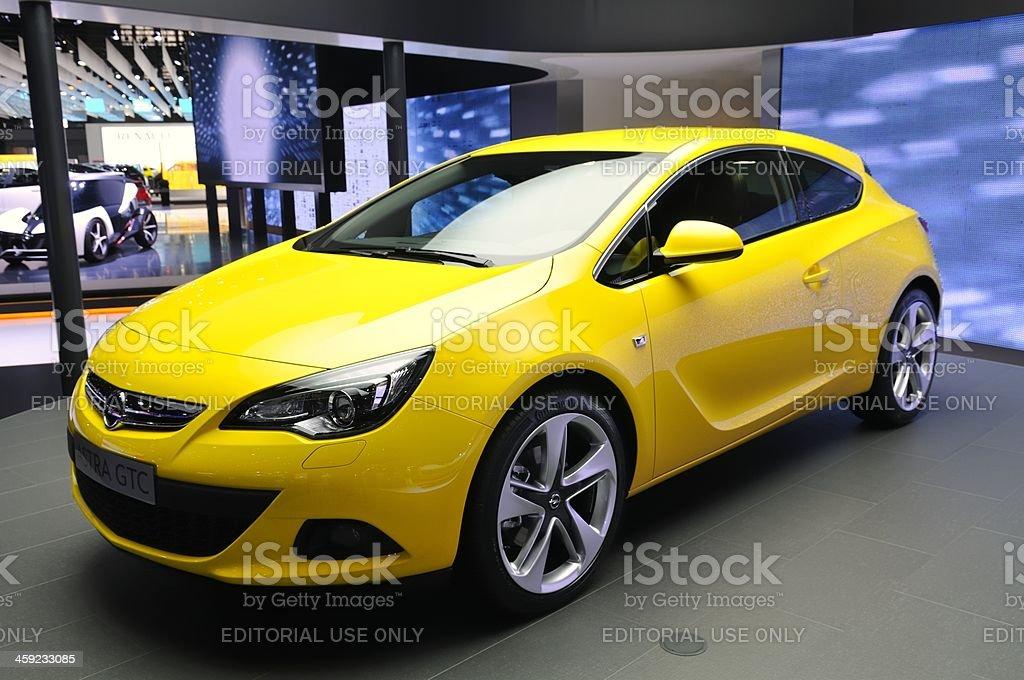 Opel Astra GTC royalty-free stock photo