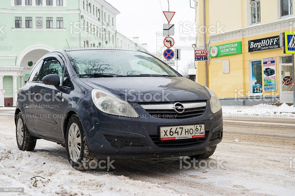 Opel Astra. stock photo