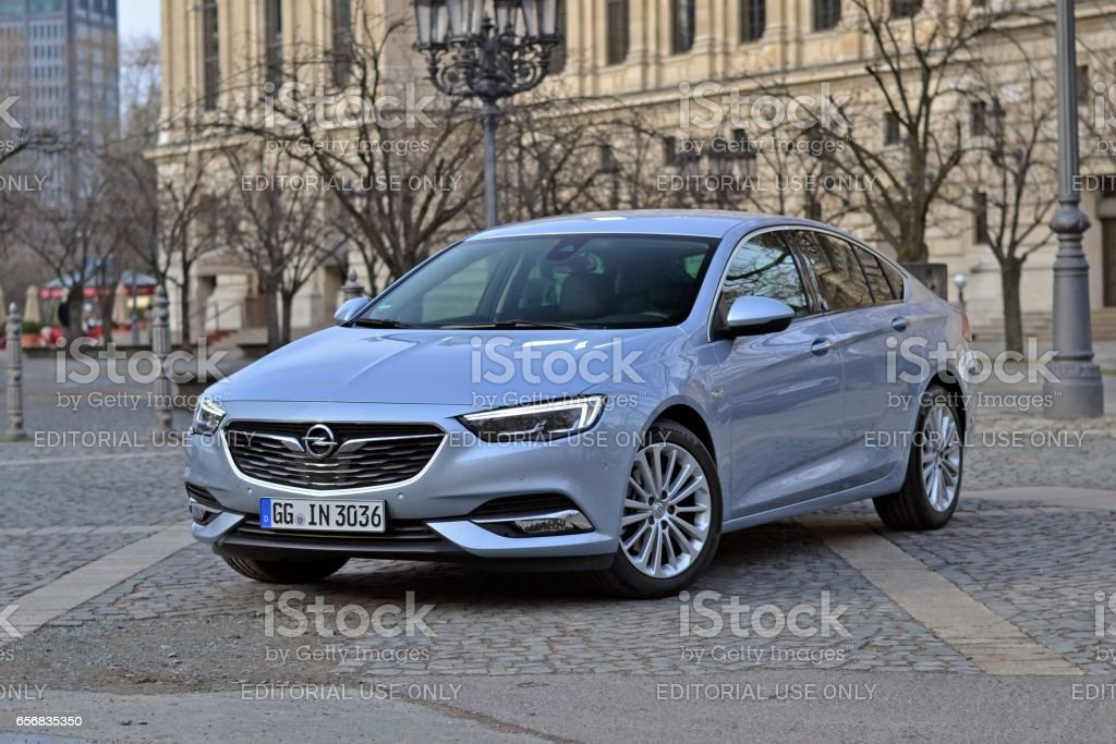 Opel Insignia Grand Sport stopped on the street stock photo