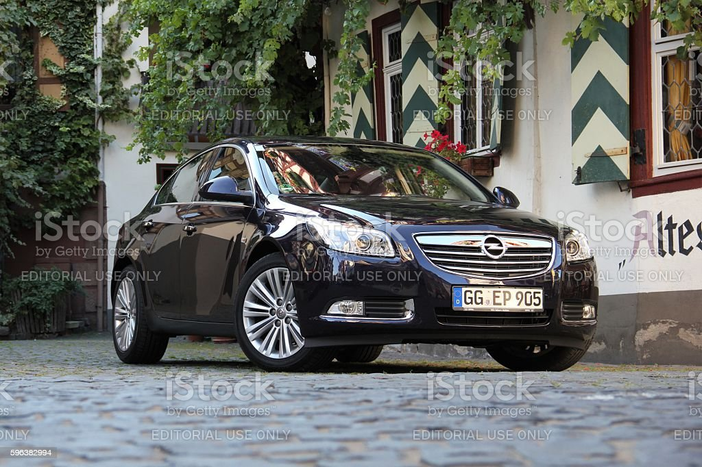 Opel Insignia on the street stock photo