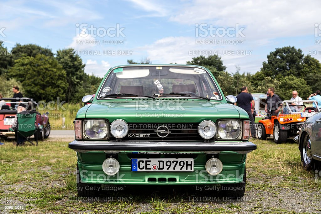 Opel Kadett at Beetle Meeting in Celle, Germany stock photo