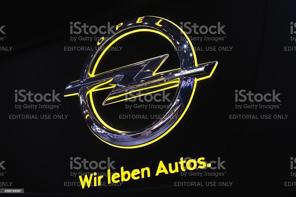 Opel logo stock photo