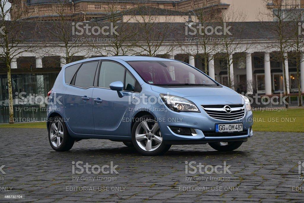 Opel Meriva in the city stock photo