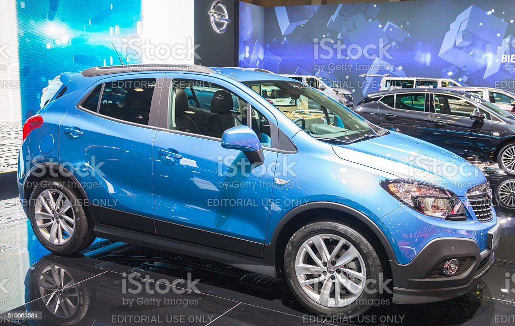 Opel Mokka compact SUV car stock photo