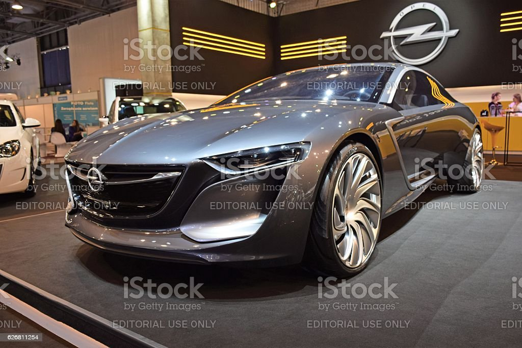 Opel Monza concept car on the motor show stock photo