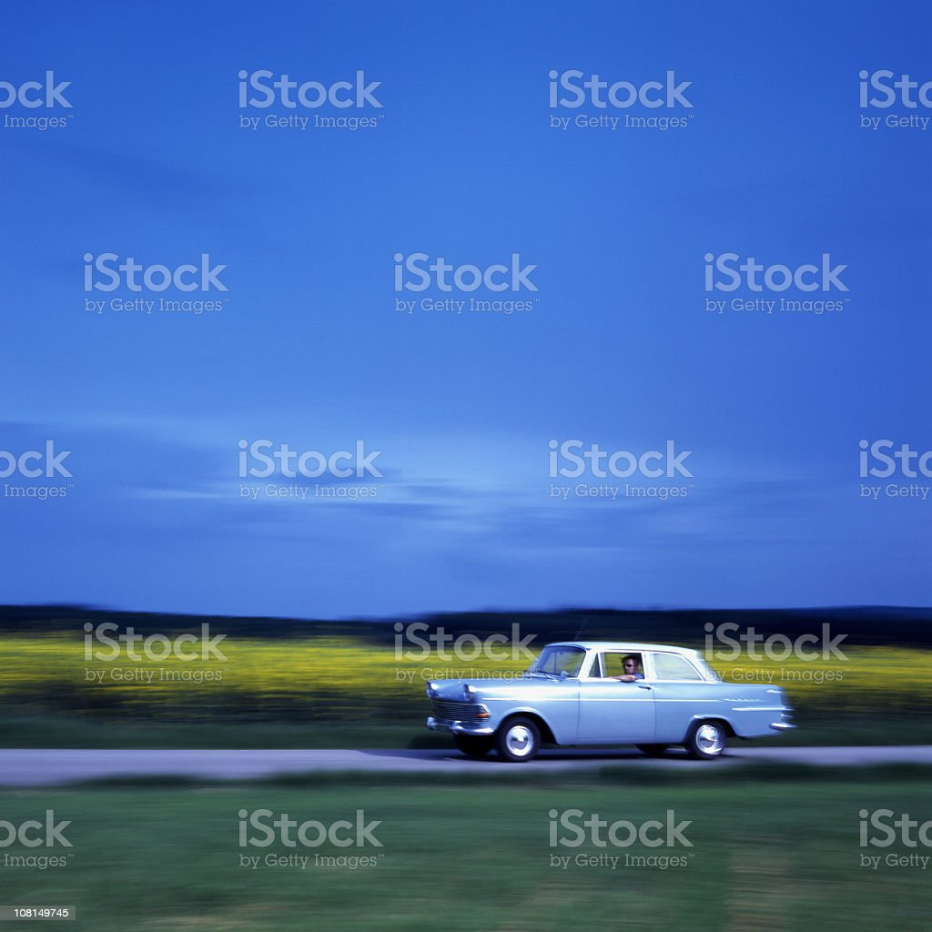 Opel P2 in motion stock photo