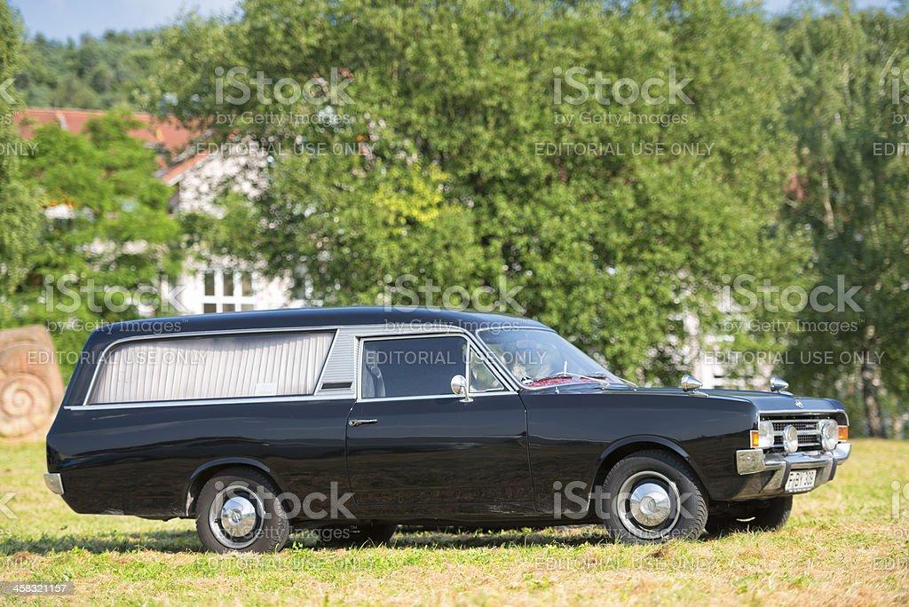 Opel Rekord C Series Hearse Car stock photo