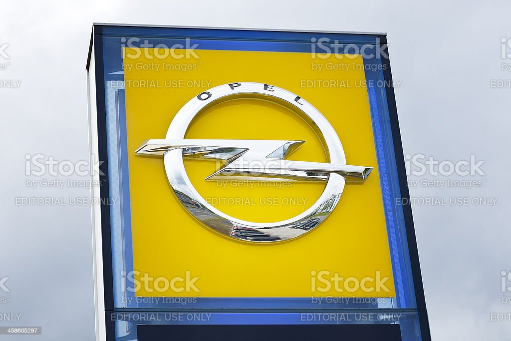 Opel sign stock photo