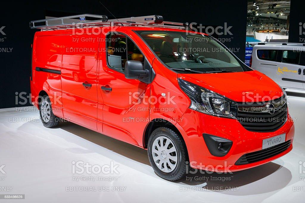 Opel Vivaro van commercial vehicle stock photo