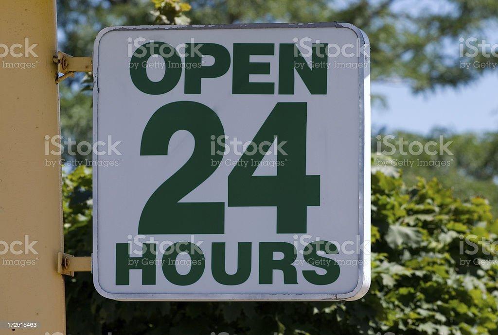 Open 24 stock photo
