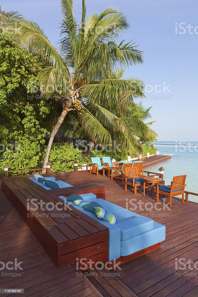 Open Air Cafe on the island royalty-free stock photo
