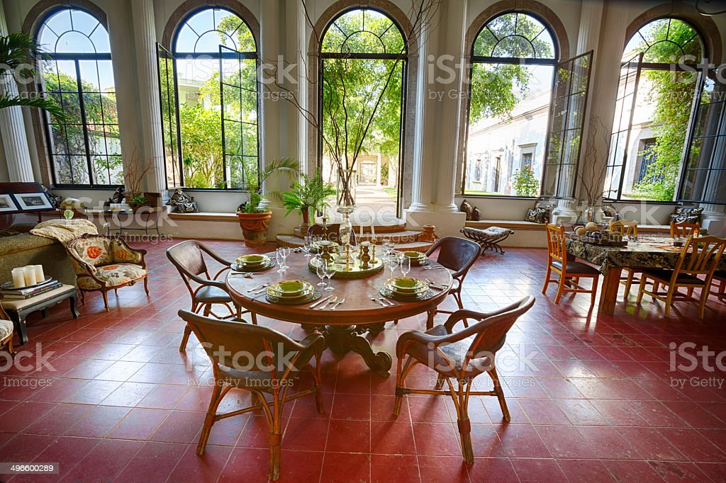 Open Air Dining Room stock photo