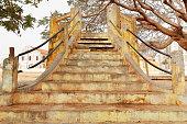 Open air kiosk and stairway. Goree island-Senegal. 1740