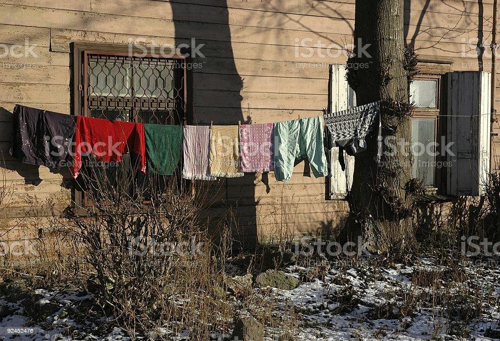 Service de blanchisserie en plein Air photo libre de droits