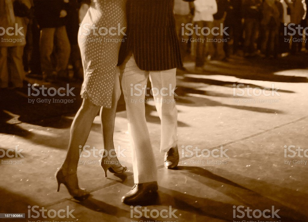 Open air milonga at night royalty-free stock photo