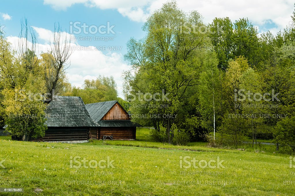 open air museum stock photo