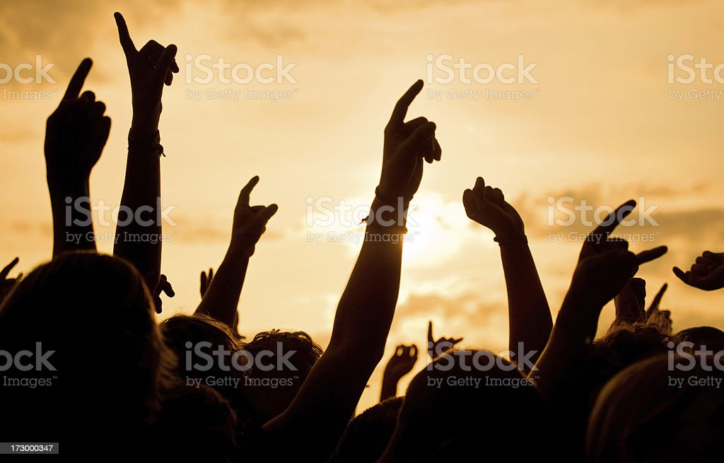 open air music festival royalty-free stock photo