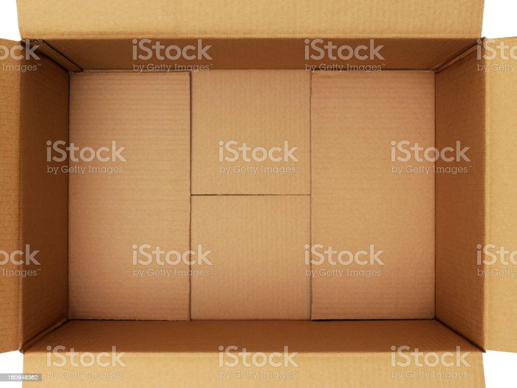Open & Empty Box royalty-free stock photo