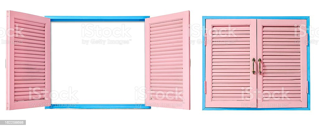 Open and close windows royalty-free stock photo