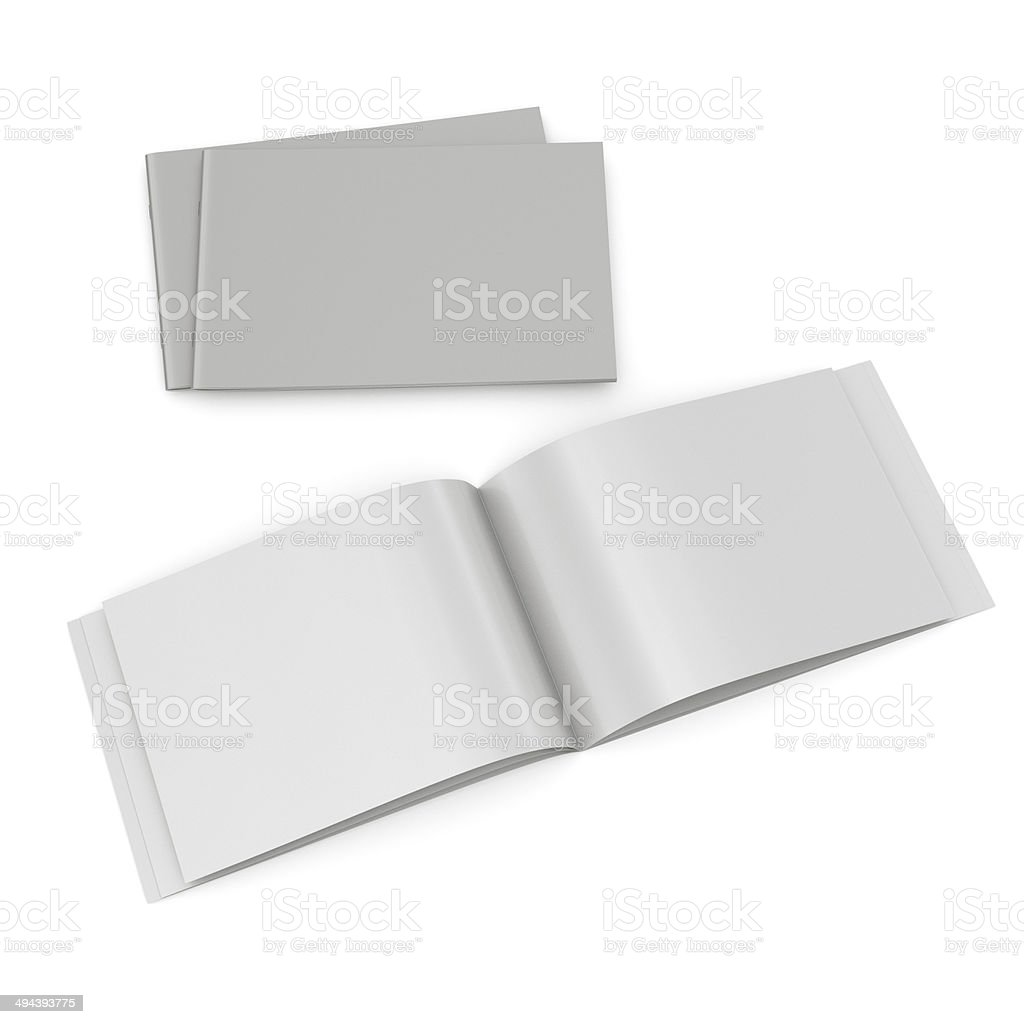 Open and closed catalogs stock photo