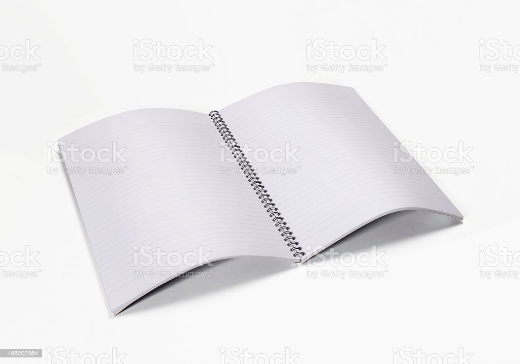 open and write. stock photo