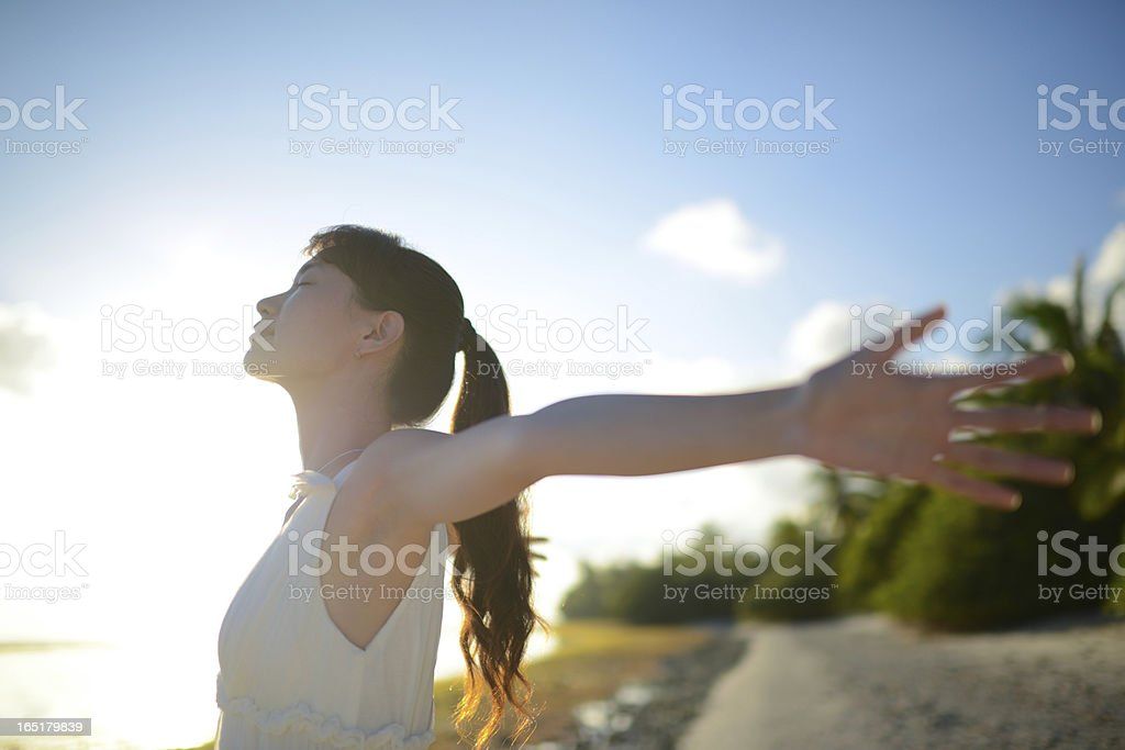 Open Arms stock photo