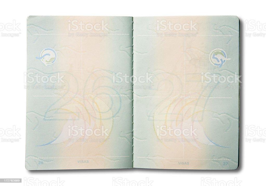Open Australian Passport royalty-free stock photo