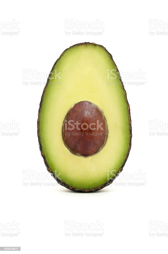 Open avocado stock photo