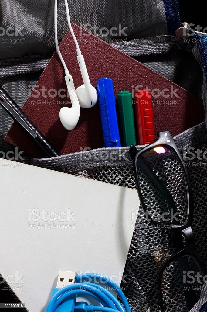 open bag isolated white. stock photo