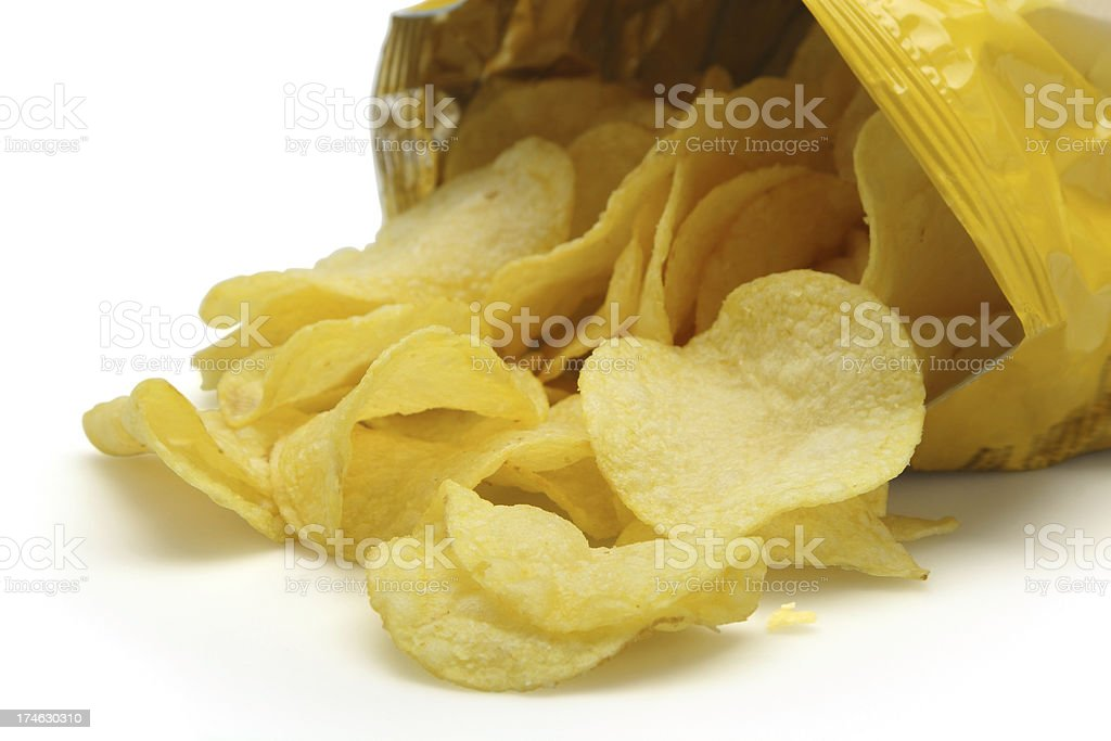 Open Bag of Chips stock photo