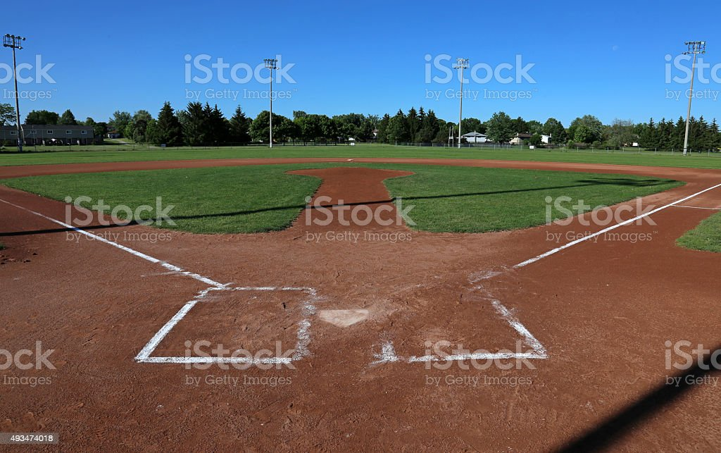 Open Ball Field stock photo