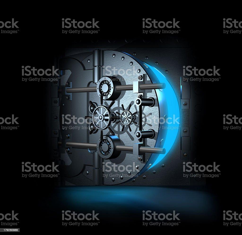 open bank vault, 3D render stock photo